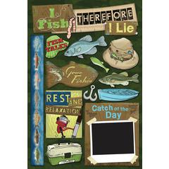 Cardstock Stickers Fish Tales
