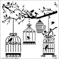 """12"""" x 12"""" Design Template Birds of a Feather"""