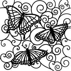 """The Crafter's Workshop 12"""" x 12"""" Design Template Flutterby"""