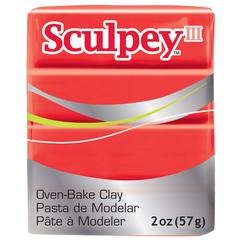 Sculpey III Polymer Clay Red Hot Red
