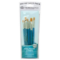 Teal Blue 7-Piece Brush Set 16