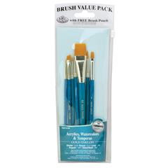 Royal & Langnickel 9100 Series  Zip N' Close Teal Blue 7-Piece Brush Set 13