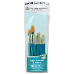 Teal Blue 10-Piece Brush Set 3
