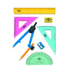 8-Piece Geometry Set with Compass