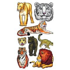 Classic Stickers Big Cats