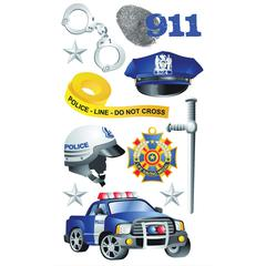 Sticko Classic Stickers Foil Police