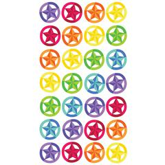 Classic Stickers Metallic Star In Circle