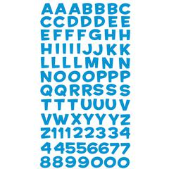Alphabet Stickers Funhouse Blue Metallic