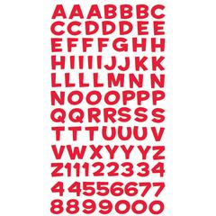 Alphabet Stickers Funhouse Red Metallic