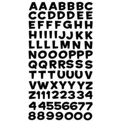 Sticko Alphabet Stickers Funhouse Black Metallic