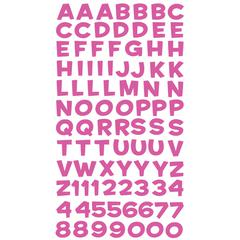 Alphabet Stickers Funhouse Pink Metallic