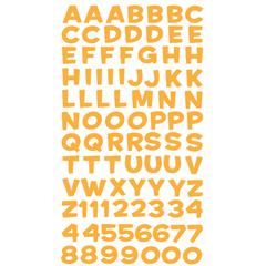 Alphabet Stickers Funhouse Yellow Metallic
