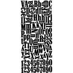 Alphabet Stickers Black Foam