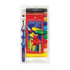 Gel Sticks 12-Color Set with Brush