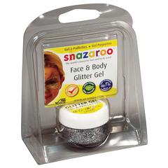 Snazaroo Face & Body Glitter Gel Silver Clam Pack