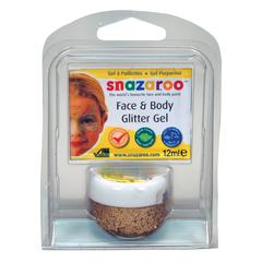 Face & Body Glitter Gel Red Gold Clam Pack