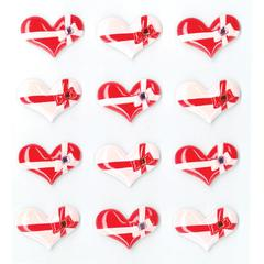 Jolee's Boutique Adhesive Cabochons Bow Tied Hearts