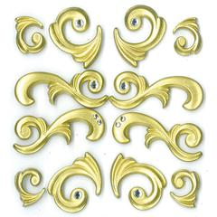 Jolee's Boutique Adhesive Cabochons Gold Flourishes