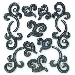 Jolee's Boutique Adhesive Cabochons Black Flourishes