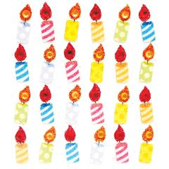 Repeat Sticker Birthday Candles