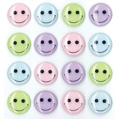 Jolee's Boutique Adhesive Cabochons Pastel Smiley Face