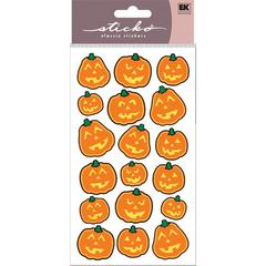Classic Stickers Metallic Scary Pumpkins