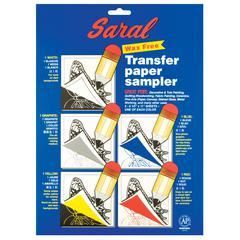"Saral 8.5"" x 11"" Wax-Free Transfer Paper Sampler"
