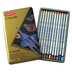 Derwent Metallic Pencil 12-Color Tin Set