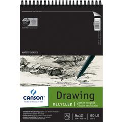 "9"" x 12"" Recycled Drawing Sheet Pad"