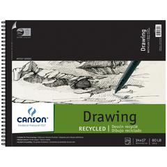 "Canson Classic Artist Series 14"" x 17"" Recycled Drawing Sheet Pad"