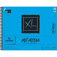"""Canson XL 14"""" x 17"""" Wire Bound Mix Media Pad"""