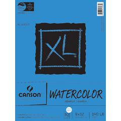 "Canson XL 9"" x 12"" Watercolor Cold Press Sheet Pad"