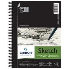 "Canson Universal Artist Series 5.5"" x 8.5"" Recycled Sketch Sheet Pad"