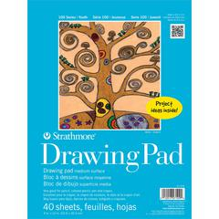 """9"""" x 12"""" Tape Bound Drawing Paper Pad"""