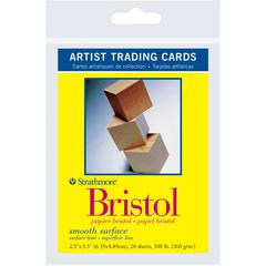 "Strathmore 300 Series 2.5"" x 3.5"" Smooth Surface Bristol Artist Trading Cards"