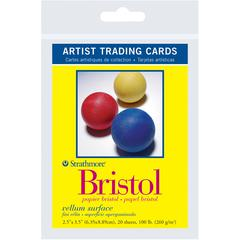 "Strathmore 300 Series 2.5"" x 3.5"" Vellum Surface Bristol Artist Trading Cards"