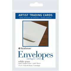 "3"" x 4"" White Wove Artist Trading Card Envelopes"