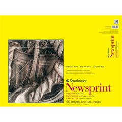 "Strathmore 300 Series 18"" x 24"" Rough Tape Bound Newsprint Pad"