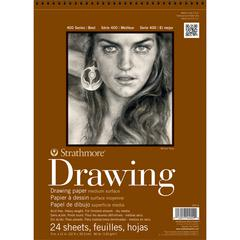 "Strathmore 400 Series 8"" x 10"" Medium Surface Wire Bound Drawing Pad"