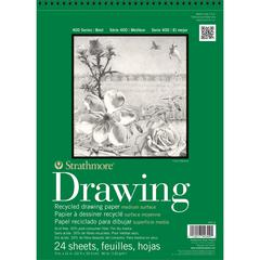 "Strathmore 400 Series 9"" x 12"" Wire Bound Recycled Drawing Pad"