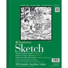 "Strathmore 400 Series 5.5"" x 8.5"" Wire Bound Recycled Sketch Pad"