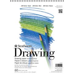 "Strathmore 200 Series 9"" x 12"" Wire Bound Drawing Pad"