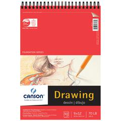 "Canson Foundation Series 9"" x 12"" Foundation Drawing Pad"