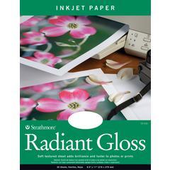 """Strathmore 8.5"""" x 11"""" Radiant Gloss Inkjet Paper"""