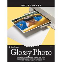"""Strathmore 8.5"""" x 11"""" Glossy Inkjet Paper"""