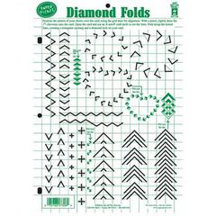 "8.5"" x 12"" Papercrafting Template PF Diamond Folds"