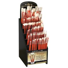 Best Vienna Synthetic Bristle Acrylic and Oil Brushes Display