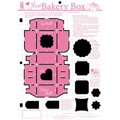 "8½"" x 12"" Papercrafting Template Mini Bakery Box"