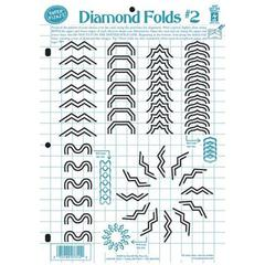 "Hot Off the Press 8.5"" x 12"" Papercrafting Template PF Diamond Folds #2"