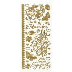 Dazzles Stickers Gold Sympathy